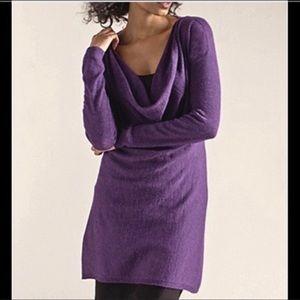 225$ Eileen Fisher Cowl Neck Alpaca Wool Sweater M